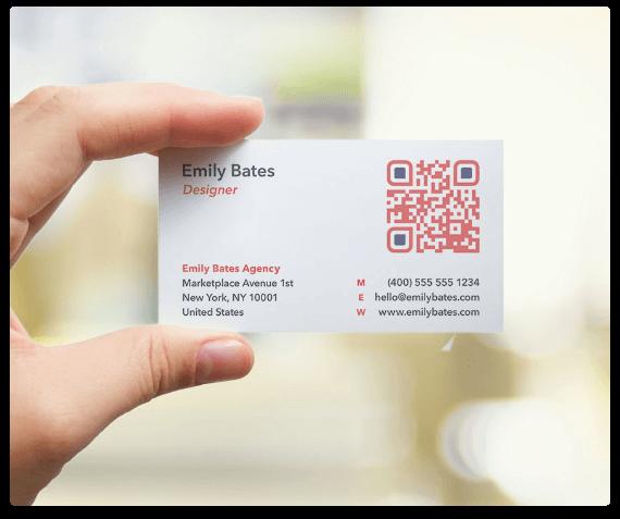 Visitenkarte Mit Qr Code Qr Code Generator Pro